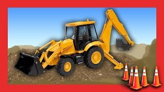 Diggers for Children - Construction Trucks with Machines for Kids