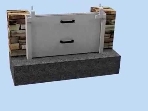 Removable Flood Barrier Animation