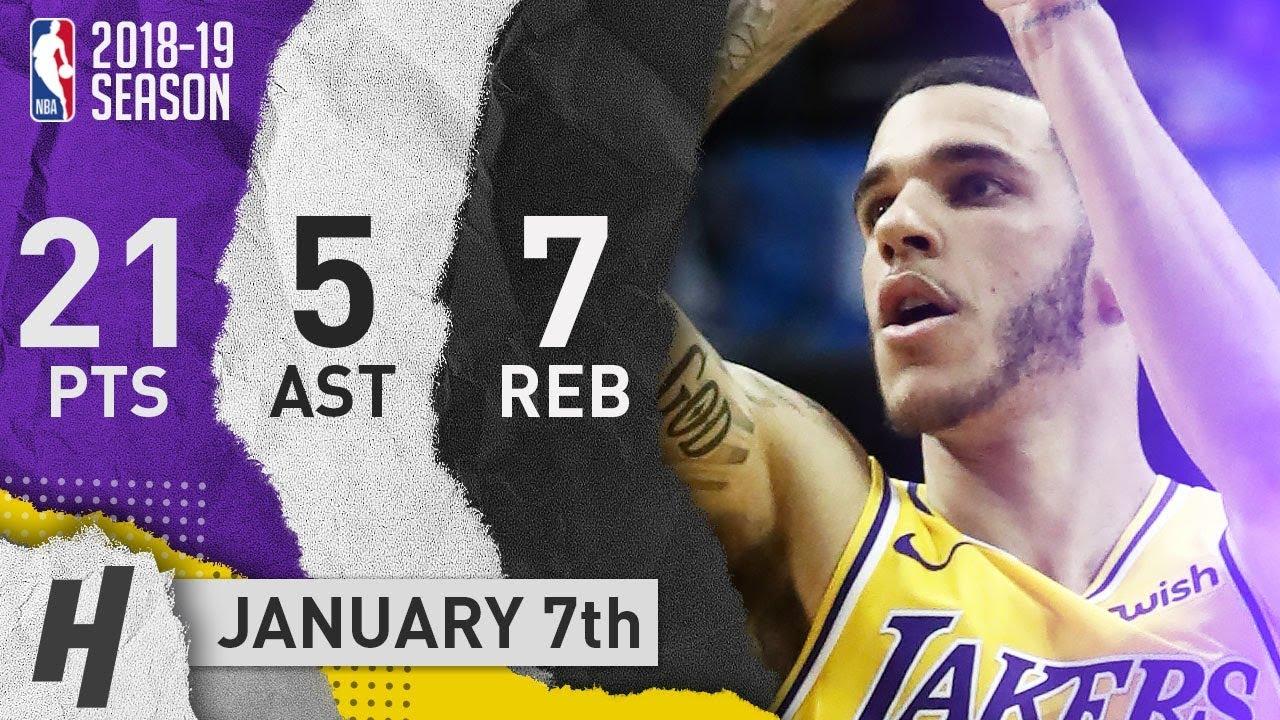 Lonzo Ball Full Highlights Lakers Vs Mavericks 2019 01 07