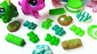 Littlest Pet Shop Playdoh St Patrick's Day Treats Cookies Gummy Bears Donuts For LPS