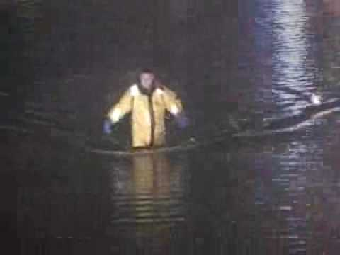 WATER RESCUE** 2 DRIVERS TRAPPED DURING FLOOD** Frankfort,IL Fire Protection