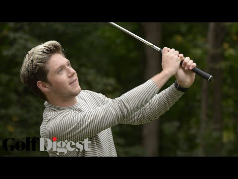 Niall Horan Interviewed While Hitting Golf Balls into a Pool | Golf Digest