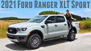 2021 Ford Ranger XLT Sport - Cactus Grey | Walk Around & Review