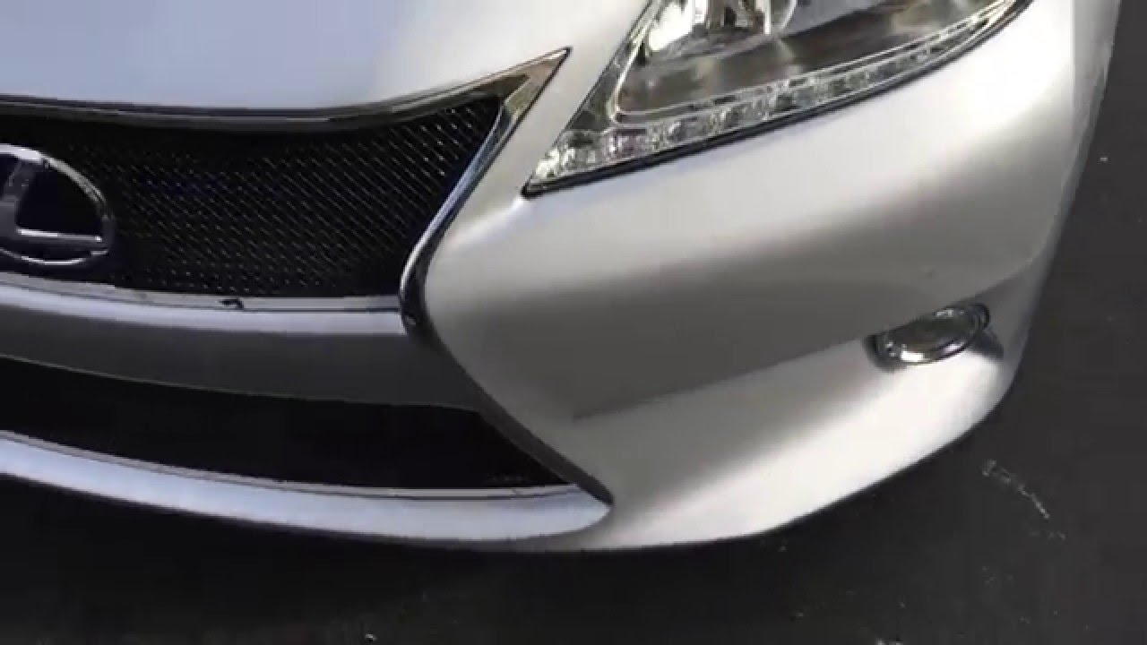 hight resolution of how to remove install grille front bumper on a 2013 2014 2015 lexus es 300
