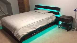Led Strip Light Kit On Bed Frame