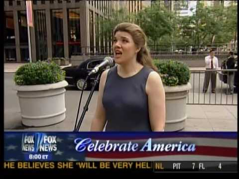 Catherine Gale singing live on national TV