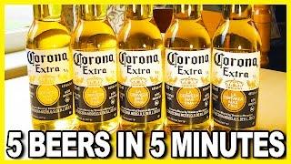5 BEERS IN 5 MINUTES CHALLEGE - Happy Cinco de Mayo