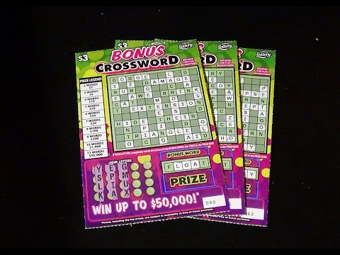 A.M. Crosswords 5: BONUS CROSSWORD FL Lottery Scratch-Offs
