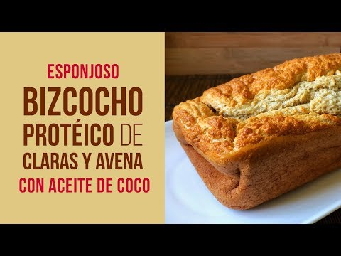 Bizcocho Protéico de Claras y Avena