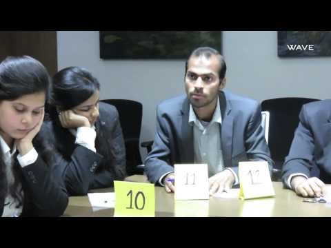 Group Discussion : Shriram College of Commerce at Wave Infratech, 21st Nov,2014