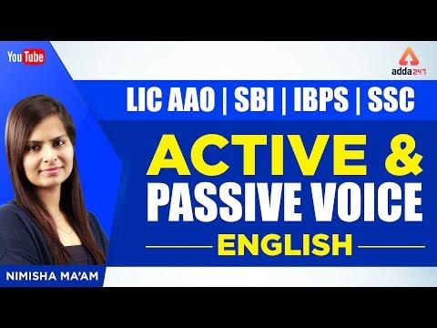 LIC AAO | SBI | IBPS | SSC | ACTIVE & PASSIVE VOICE | ALL EXAMS ENGLISH PREPARATION BY NIMISHA MA'AM