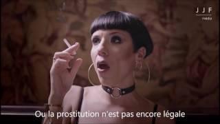 MARKETING : La publicité qui choque l'Espagne. Salon de l'érotisme, Barcelone, Espagne