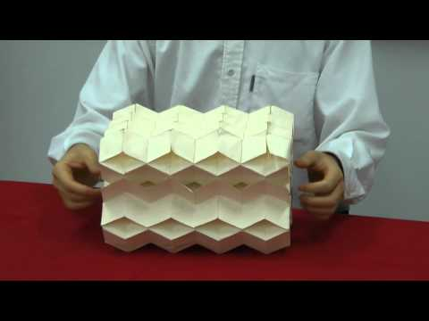 how to make bidirectionally flat-foldable cellular origami structure