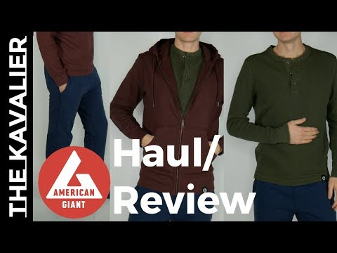 American Giant Unboxing and Review - Hoodie, Sweatpants, Crew and Jacket