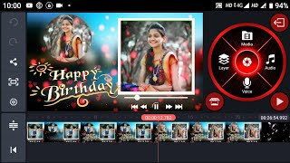 How to special happy birthday wishes your girlfriend image edit in kinemaster in Telugu by Eswar tec