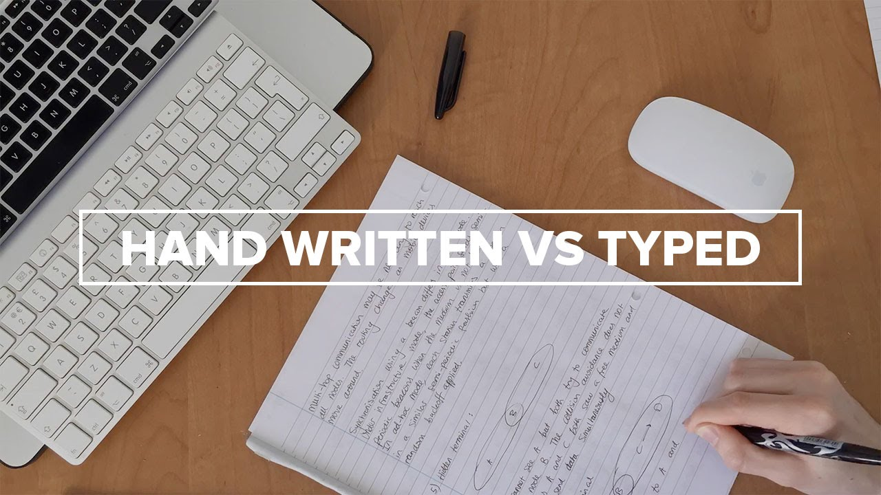 write or type notes
