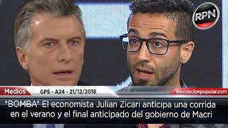 *BOMBA* El economista Julian Zicari anticipa una corrida en el verano y el final anticipado de Macri thumbnail