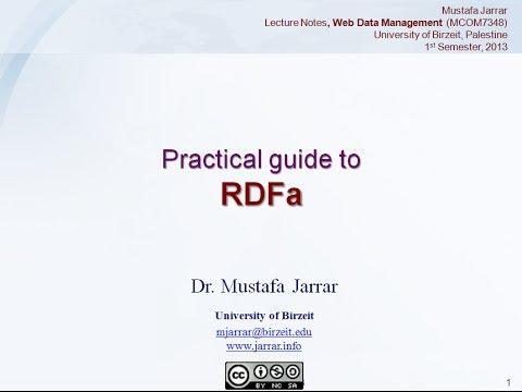 RDFa (Part 1/2)