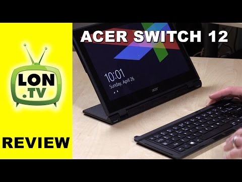 Acer Aspire Switch 12 Laptop / Tablet Review - 12.5 inch screen, Core M Processor - SW5-271-64V2