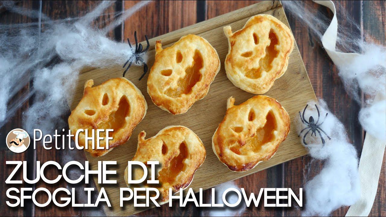 Sfogliatine a forma di zucca - Ricette Halloween, Tutorial cucina ...