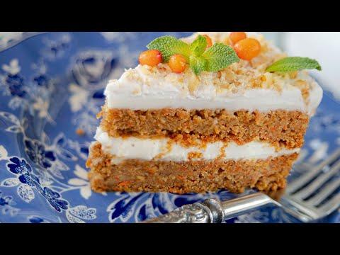 Морковный ТОРТ БЕЗ МУКИ и БЕЗ ЯИЦ + морковный кекс, пирожные и трайфл   постный веганский рецепт