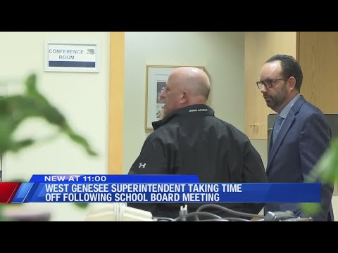 West Genesee School Superintendent taking 'personal time off' amid controversy