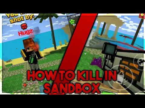 HOW TO KILL PEOPLE IN SANDBOX! (Pixel Gun 3D) NO CLICKBAIT