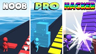 NOOB vs PRO vs HACKER – Stack Colors! (iOS)