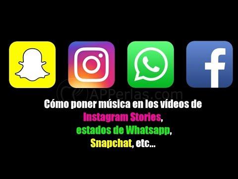 Cómo poner música en las stories de Instagram, estados de Whatsapp...