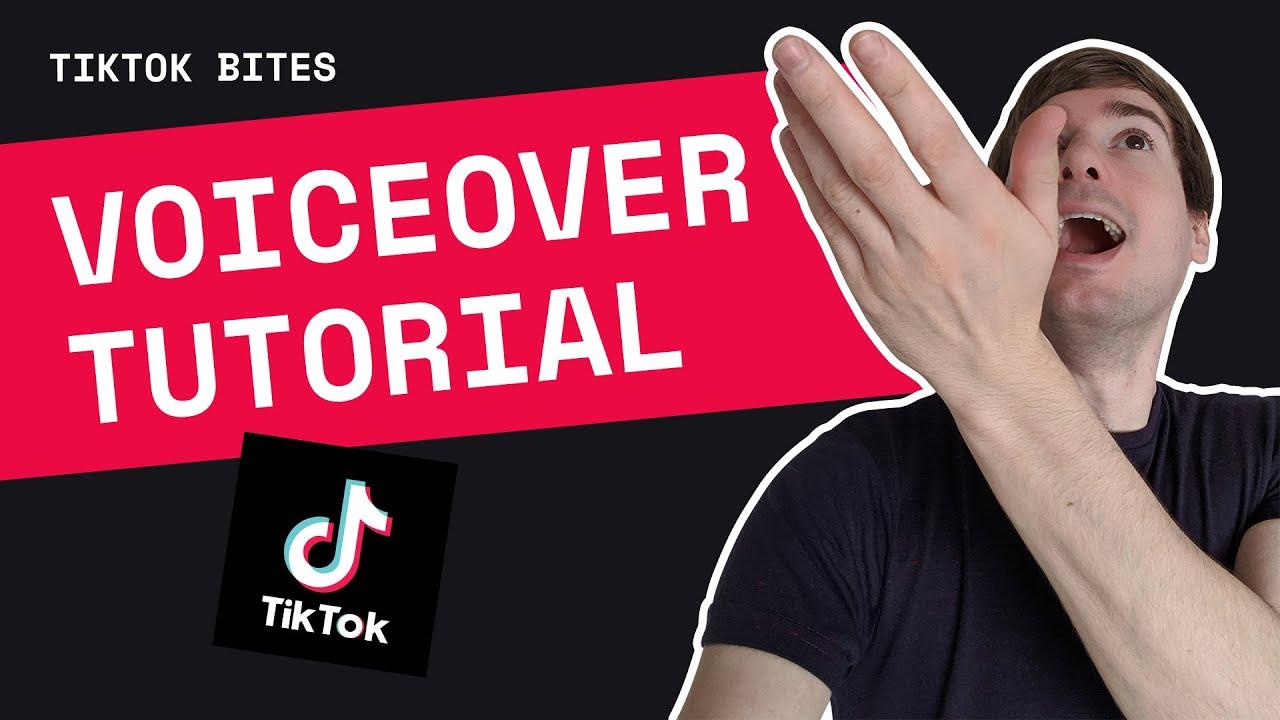 How to do a voiceover on TikTok - YouTube
