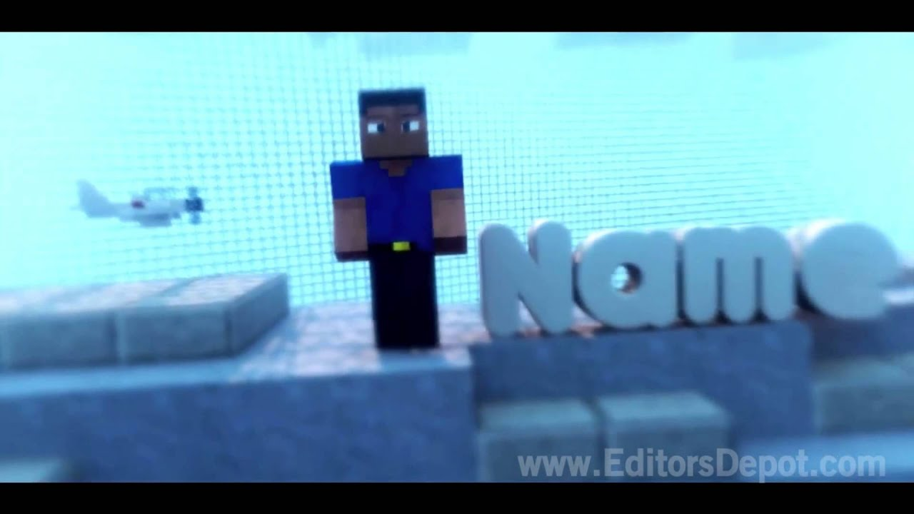 free cool minecraft 3d intro template after effects cinema 4d intro