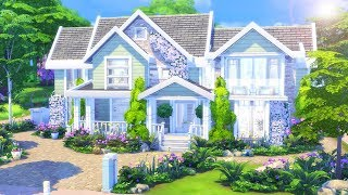 Bright Suburban || The Sims 4 Family Home - Speed Build