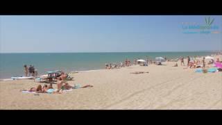 Plage du camping Méditerranée-Plage à Vias
