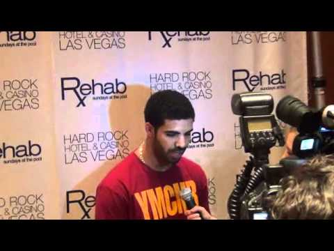 Superstar Drake arrives at Hard Rock Hotel Casino Las Vegas Rehab 2011