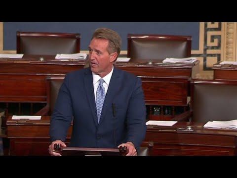 GOP Sen. Jeff Flake denounces President Trump
