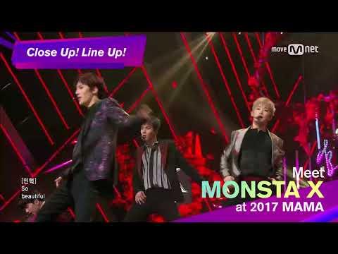 [2017 MAMA] Close up! Line up! MONSTA X @Japan