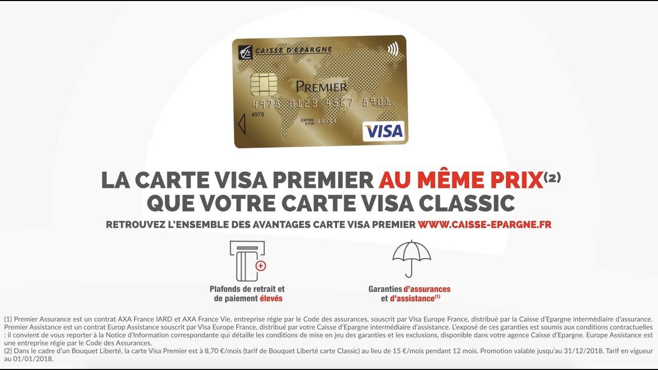 plafond retrait carte visa premier caisse epargne Saga complète   La carte Visa Premier   YouTube