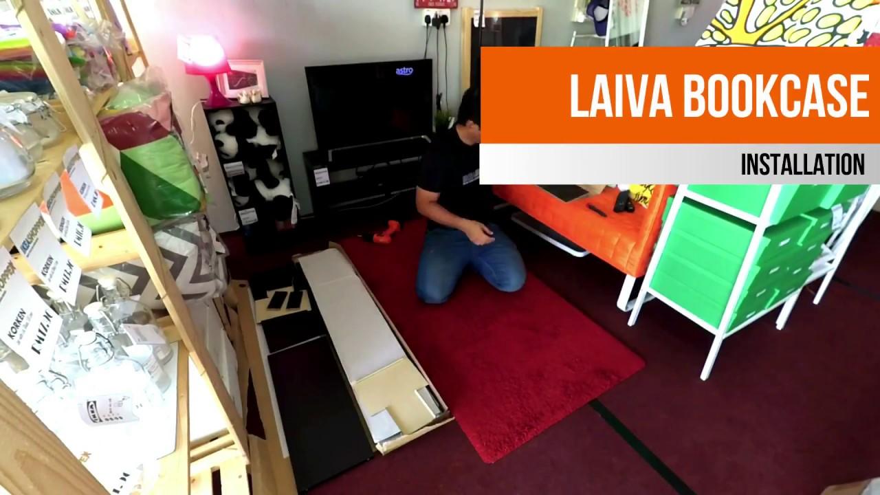 IKEA LAIVA Bookcase: How to assemble - IKEA LAIVA Bookcase: How To Assemble - YouTube