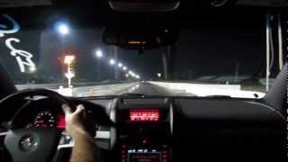 Pontiac G8 GT drag racing in car