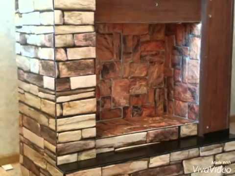 мастер класс: фальш камин и стена из пенопласта