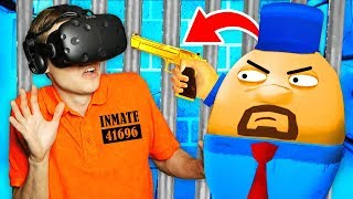 Sneaking Past SECURITY GUARDS To Escape VR PRISON (Prison Boss Virtual Reality Funny Gameplay)
