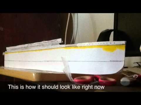 paper model titanic tutorial pre release youtube