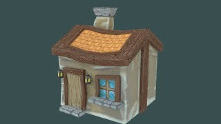 Low Poly Game Asset, Painted Texture. Speed Art