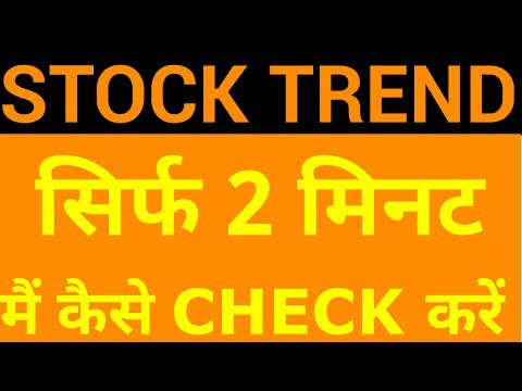 Stock Trend - How to find out in Just 2 Mins | HINDI