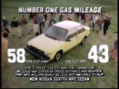 1982 NissanDatsun Sentra Commercial 5843 MPG  YouTube