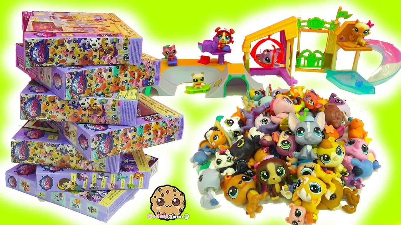 LPS Super Haul Littlest Pet Shop Box Sets - Skate Park & Bobblehead Family Pets