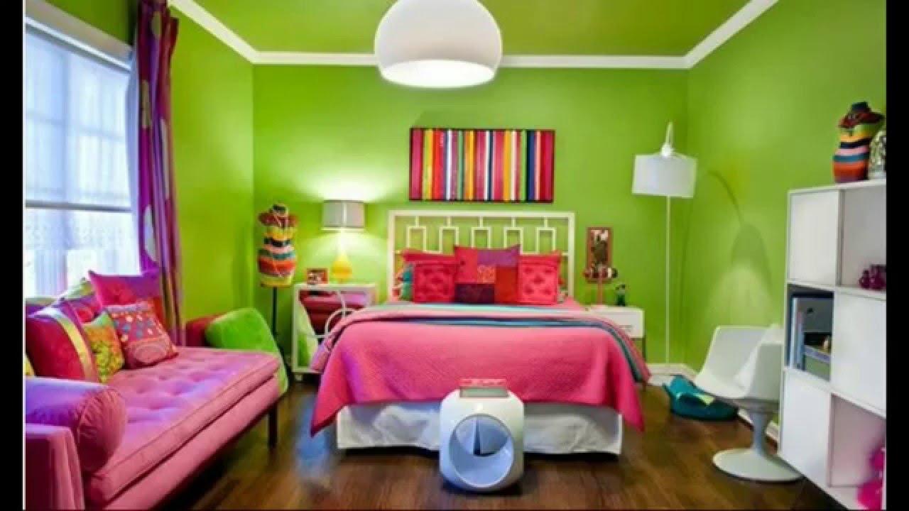 Desain Cat Ruang Tamu Warna Hijau Wallpaper Dinding