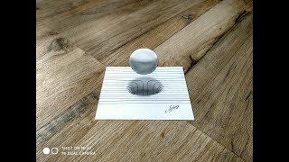 How To Draw 3D CIRCLE and Sphere    3D Trick art on paper    Art maker akshay