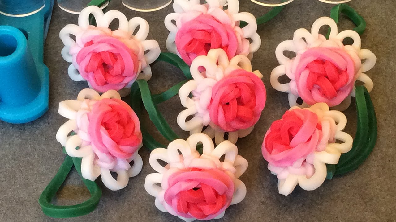 Requested Video Rose Bloom On The Original Rainbow Loom