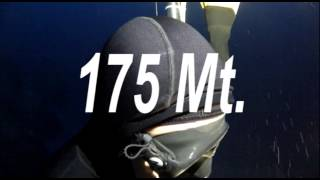 Andrea Zuccari - 175 mt No Limits Record Italiano